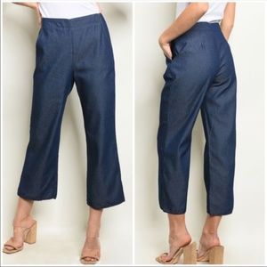 Blue Denim Chambray Pants *143rd Style Haus* NEW!